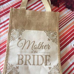 Handbags - MOTHER OF THE BRIDE BURLAP BAG NWOT